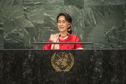 State Counsellor of Myanmar Addresses General Assembly