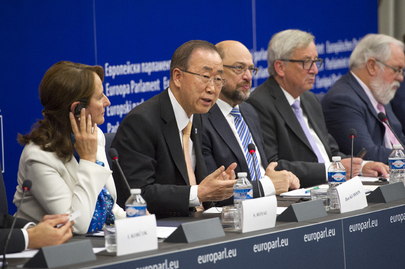 Secretary-General in Joint Press Conference at European Parliament
