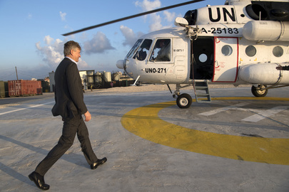 United Nations Photo: USG for DPKO Visits Blue Line in South