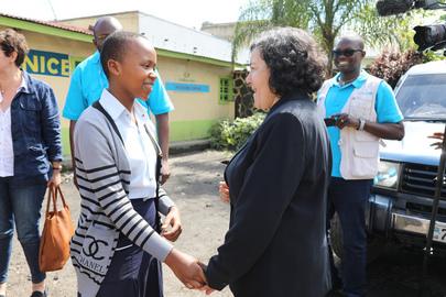 Head of MONUSCO Meets Members of Children's Parliament