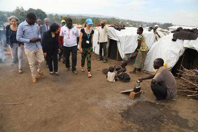 Head of MONUSCO Visits IDP Camp in Eastern DRC