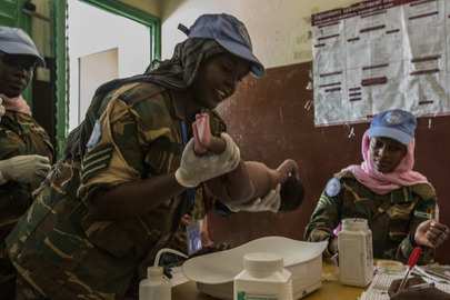 Civil-Military Activities with MINUSCA Peacekeepers