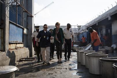 Head of MINUJUSTH Visits Civil Prison in Port-au-Prince