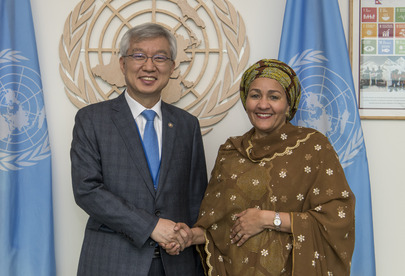 Deputy Secretary-General Meets Vice Foreign Minister of Republic of Korea