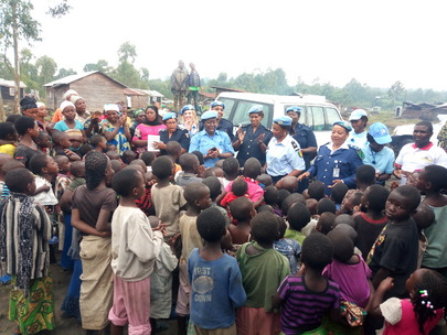 UNPOL MONUSCO Visit Grace Orphanage in Kibati