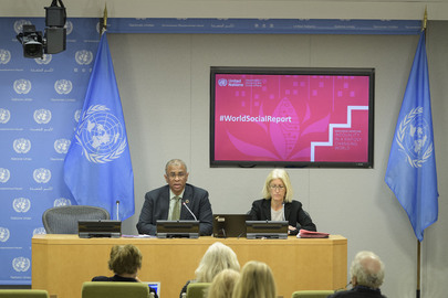 Press Conference on Launch of 2020 World Social Report