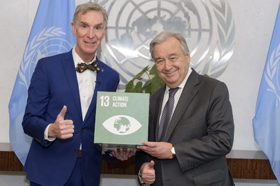 Secretary-General Meets Bill Nye