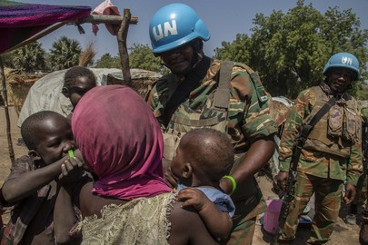 Zambian Peacekeepers Patrol in Central African Republic