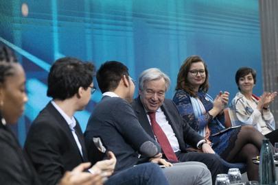 Secretary-General Converses with Youth in Geneva