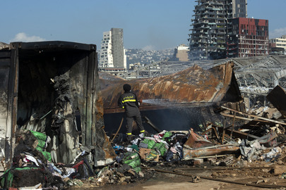 UNIFIL Assessment Team Visits Explosion Site in Beirut
