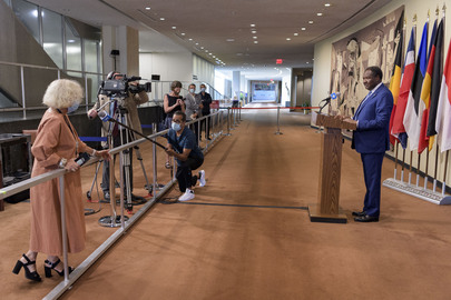 President of Security Council Briefs Press
