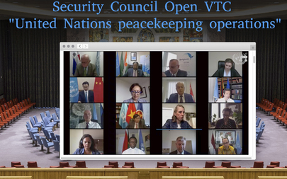 Security Council Members Hold Open Videoconference in Connection with UN Peacekeeping Operations
