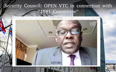 Security Council Members Hold Open Videoconference in Connection with 1591 Committee (Sudan)