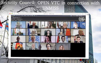Security Council Members Hold Open Videoconference in Connection with UNMISS