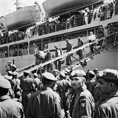 Disembarkation of Indian Troops Recalled from the Congo