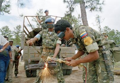 ONUCA Demobilizes Nicaraguan Resistance Forces in Honduras