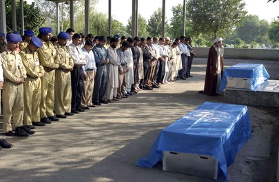 UN Staff and Son Killed in Pakistan Quake Buried