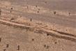 Aerial View of Sand Berm in Western Sahara 5.0378647