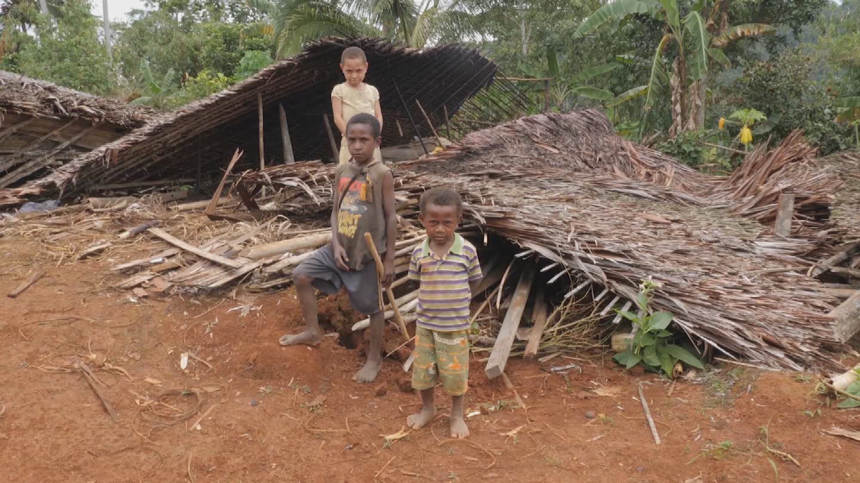 PAPUA NEW GUINEA  EARTHQUAKE CHILDREN