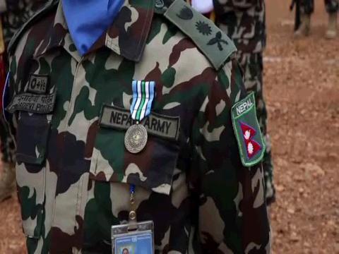 SOUTH SUDAN  NEPAL MEDAL PARADE