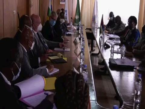 CENTRAL AFRICAN REPUBLIC  LACROIX VISIT