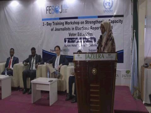 SOMALIA  ELECTIONS REPORTING TRAINING