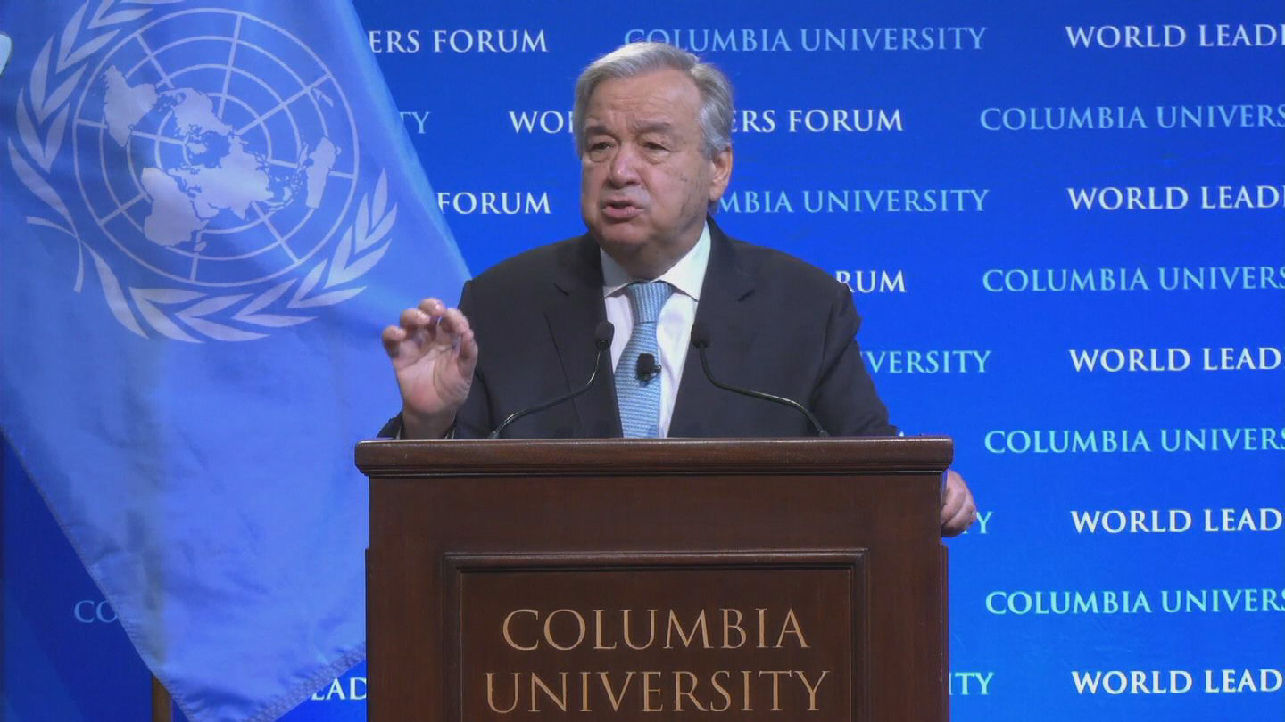 NEW YORK  GUTERRES STATE OF THE PLANET