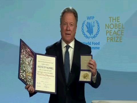 WFP  BEASLEY NOBEL PEACE PRIZE