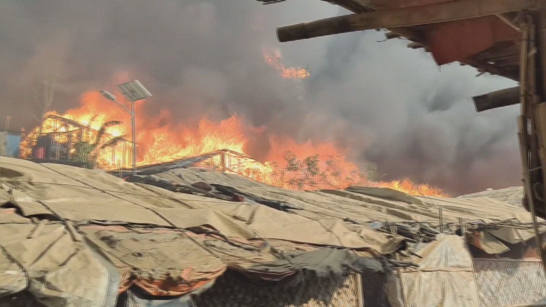 BANGLADESH  ROHINGYA REFUGEE CAMP FIRE