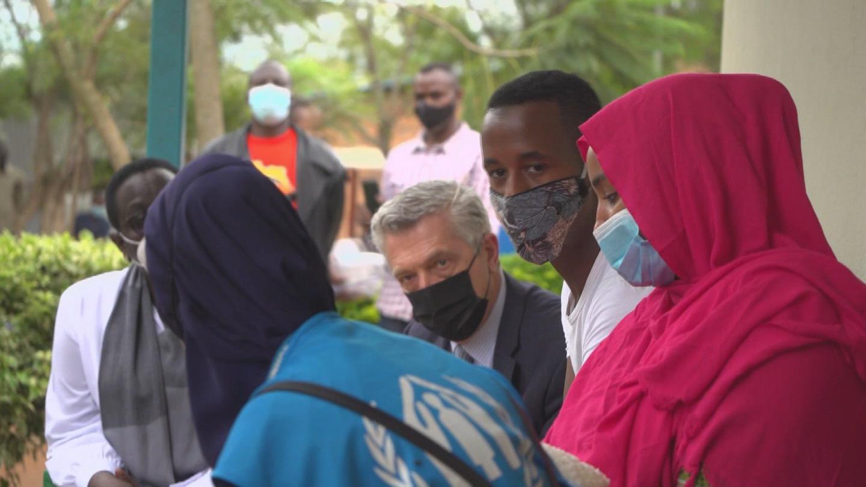 RWANDA  GRANDI LIBYA REFUGEES
