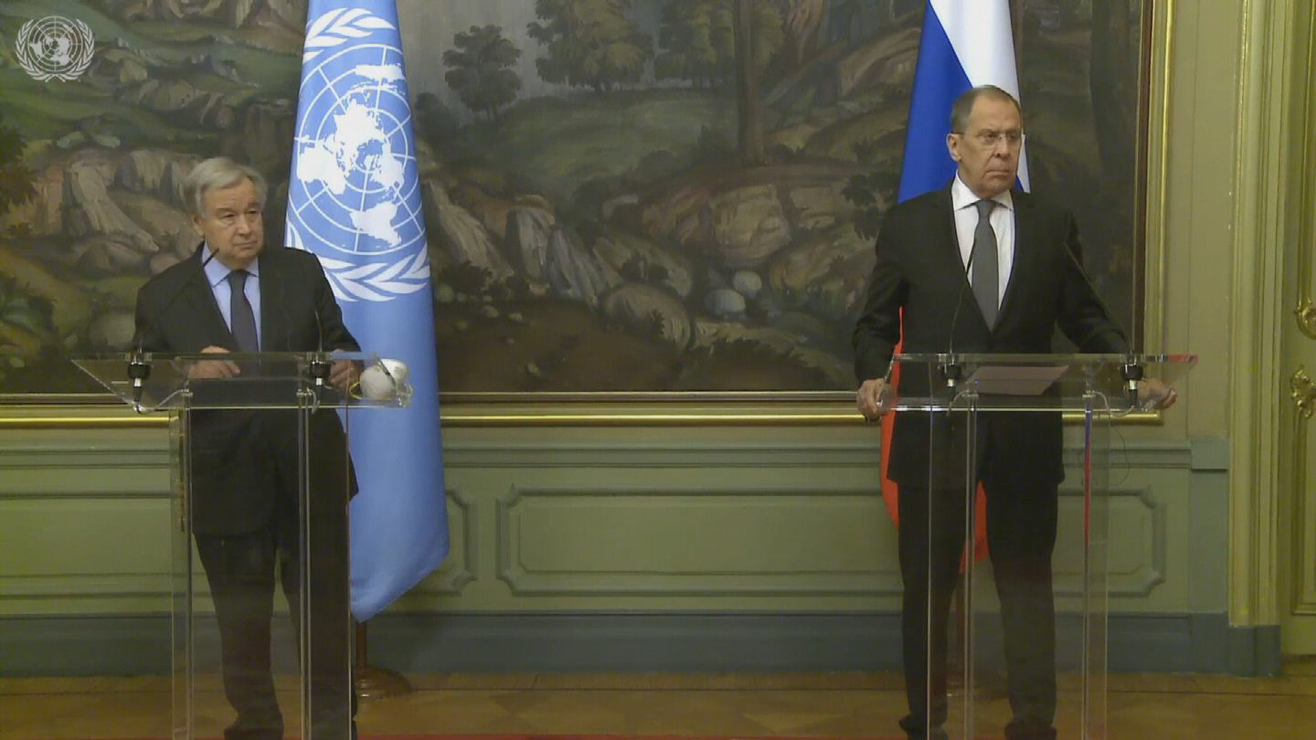 MOSCOW  GUTERRES LAVROV