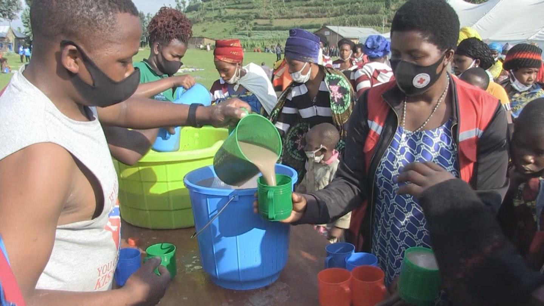 RWANDA  DRC VOLCANO ASSISTANCE