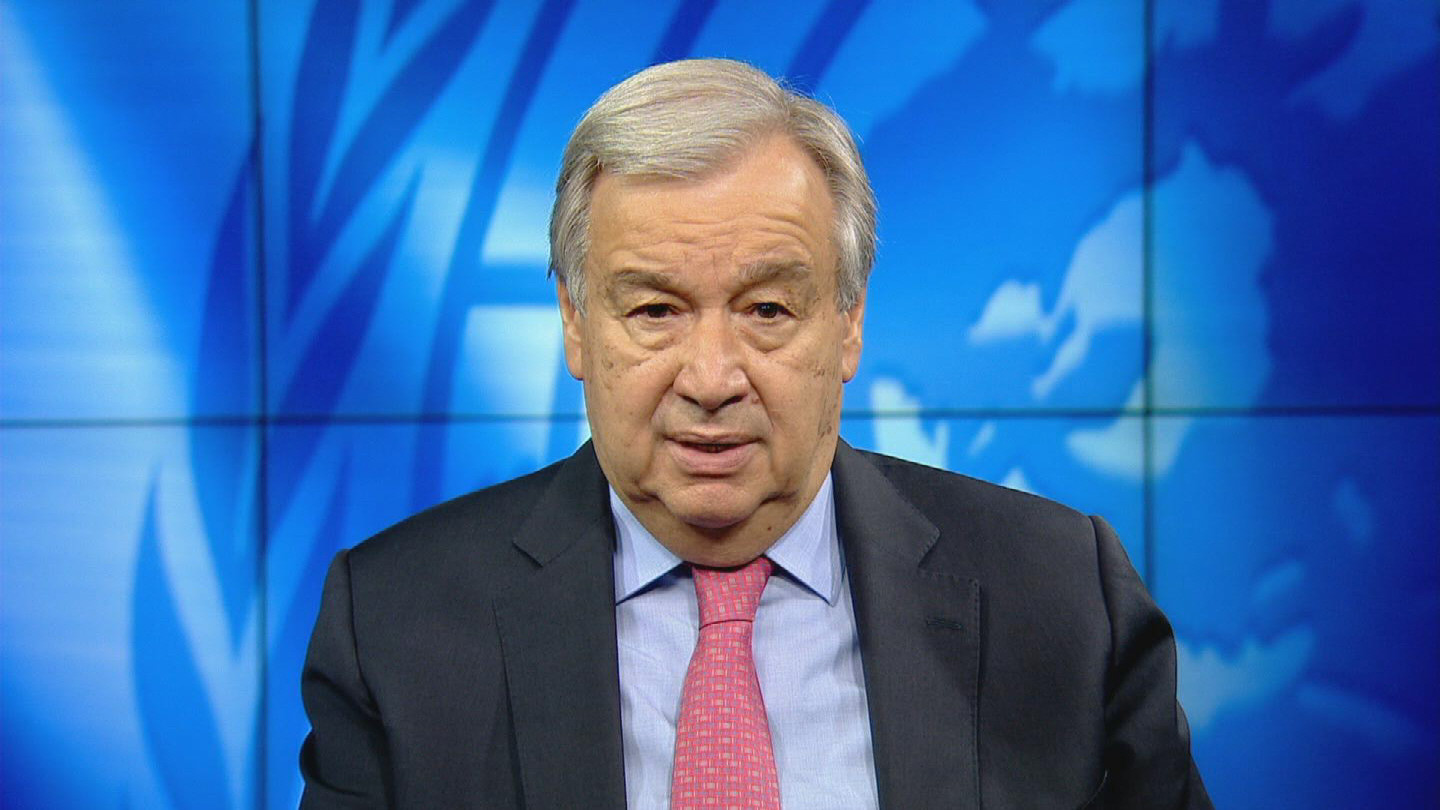 UN  GUTERRES OLYMPIC TRUCE
