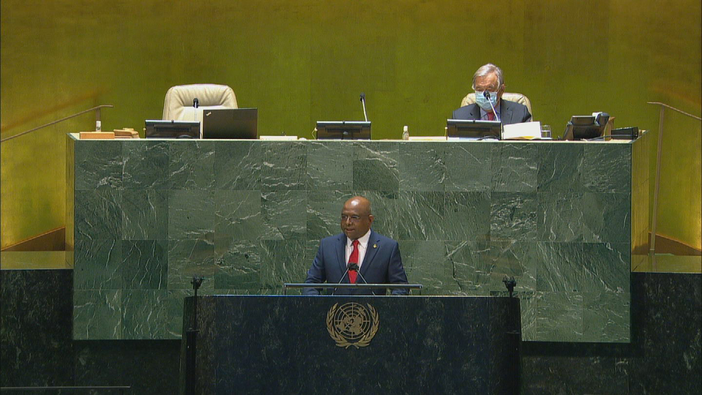 UN  76th GENERAL ASSEMBLY OPENING