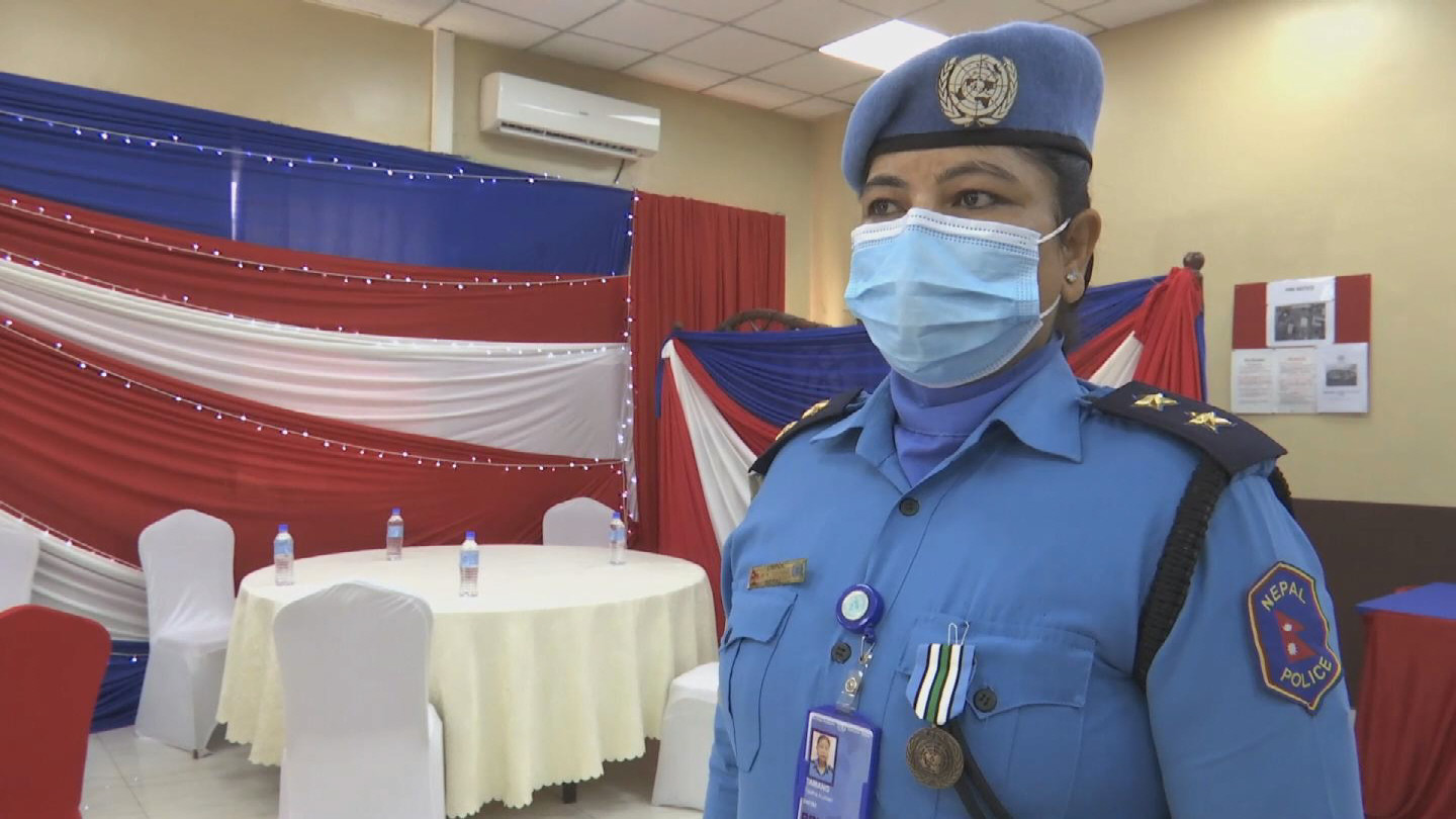 SOUTH SUDAN  NEPALESE UN POLICE OFFICERS
