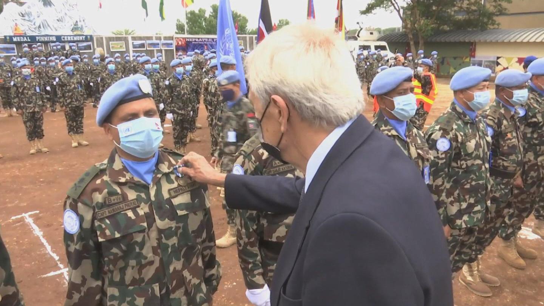SOUTH SUDAN  NEPALESE PEACEKEEPERS