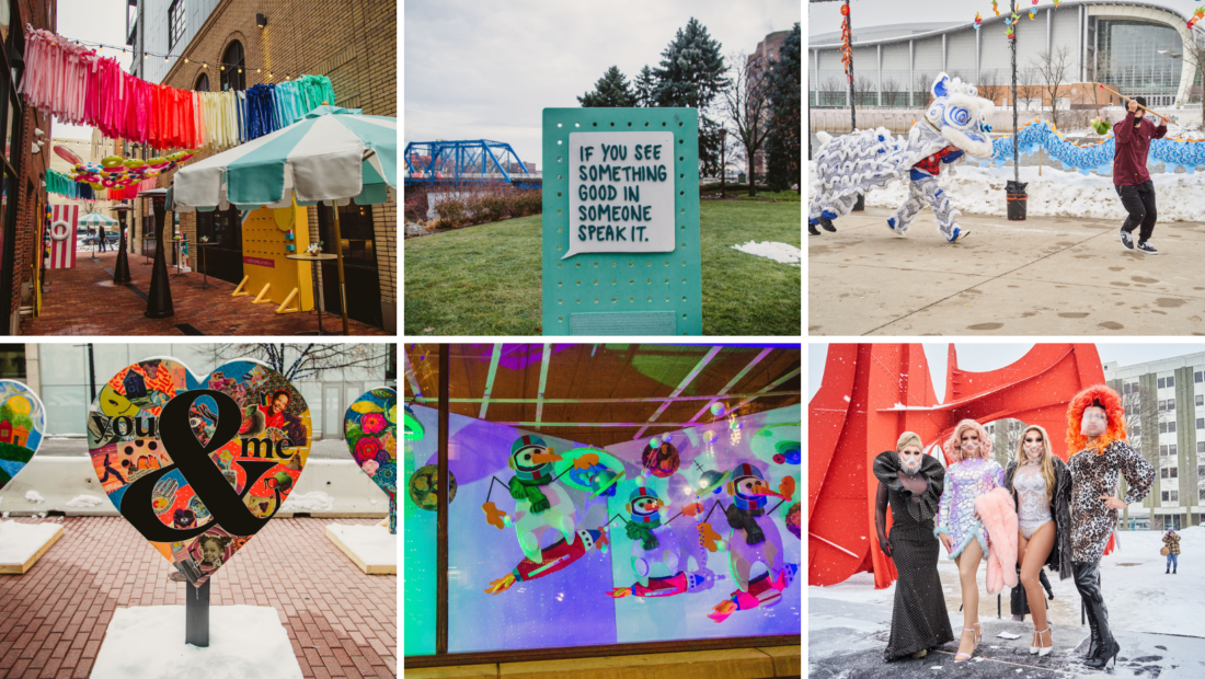 Snippets of installations funded last year through this grant opportunity.