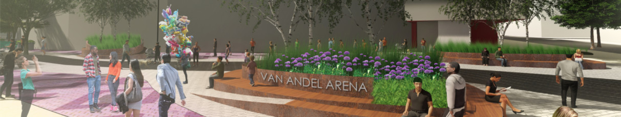 Van Andel Arena renovation - announcement banner