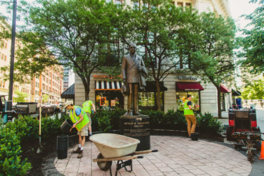 Landscaping Vanderberg Statue Working DGRI 2019 Erika Townsley Photo 30