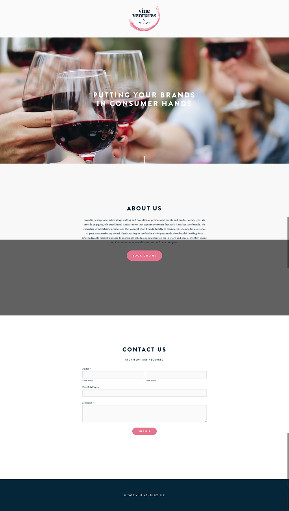 Vine Ventures marketing website