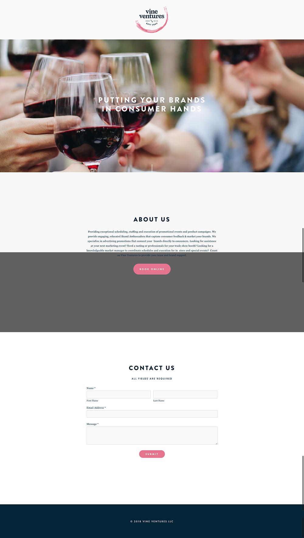 Vine Ventures marketing website