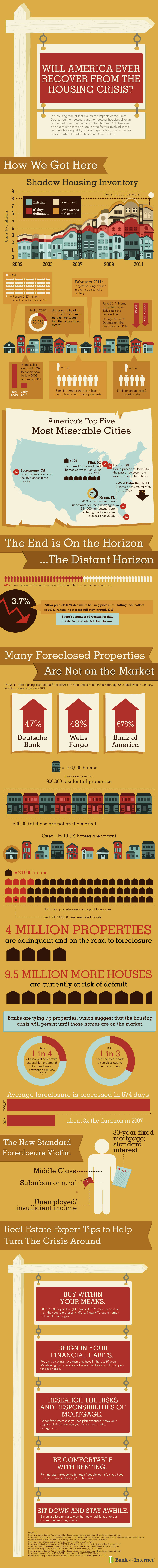 Bank of Internet Housing Crisis Infographic
