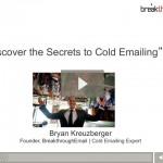 Cold email webinar still shot