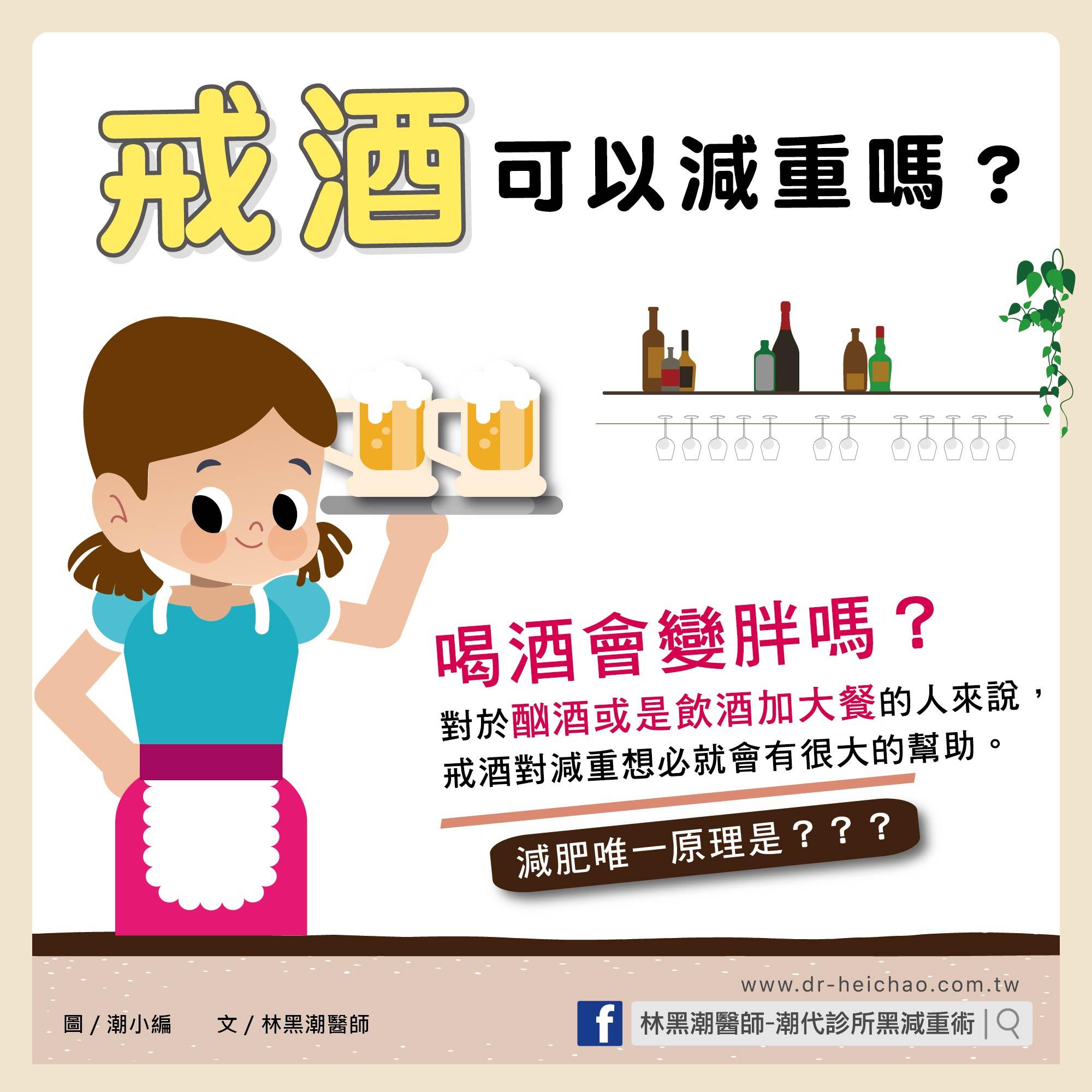 醫療/戒酒可以減重嗎?
