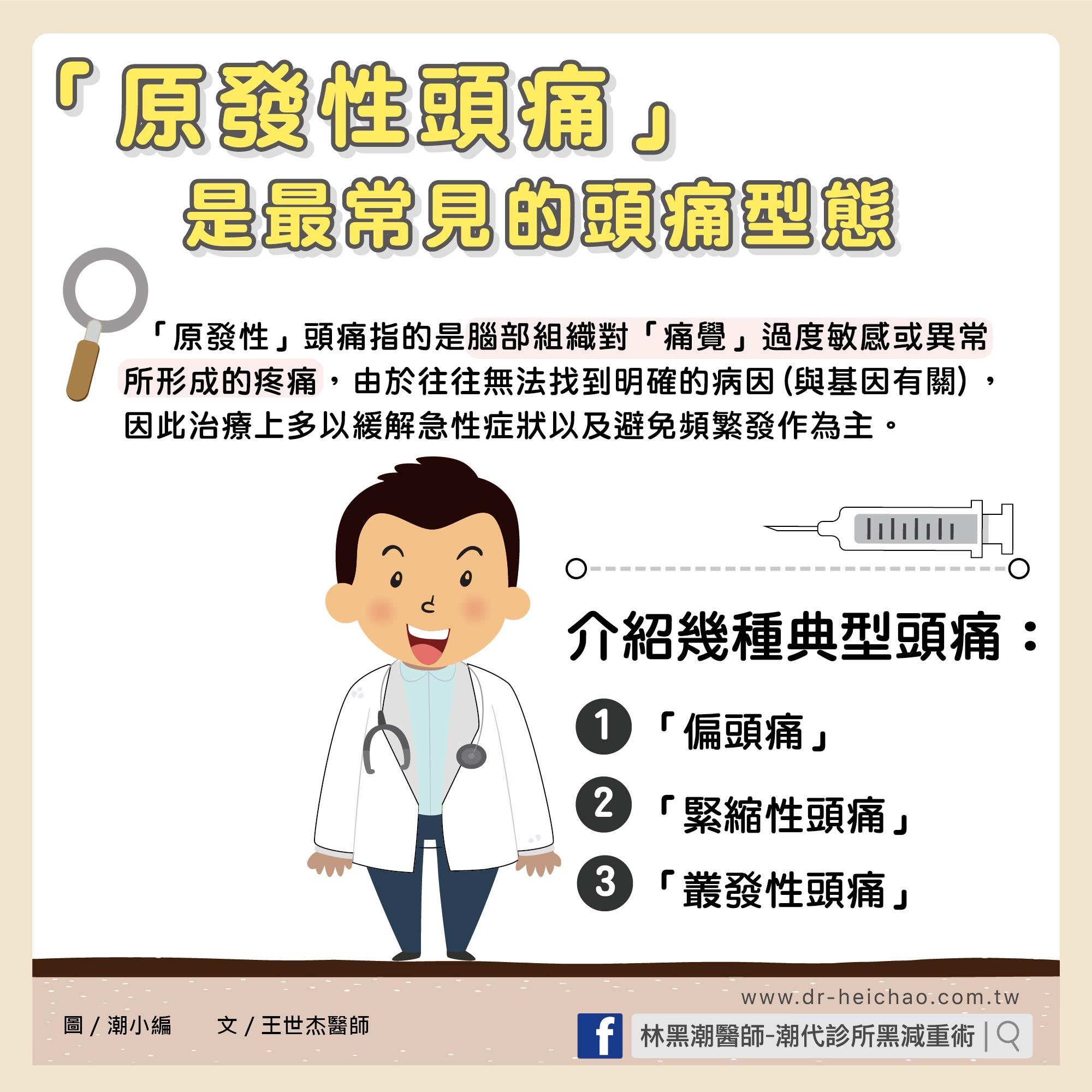 淺談常見頭痛/文:王世杰醫師