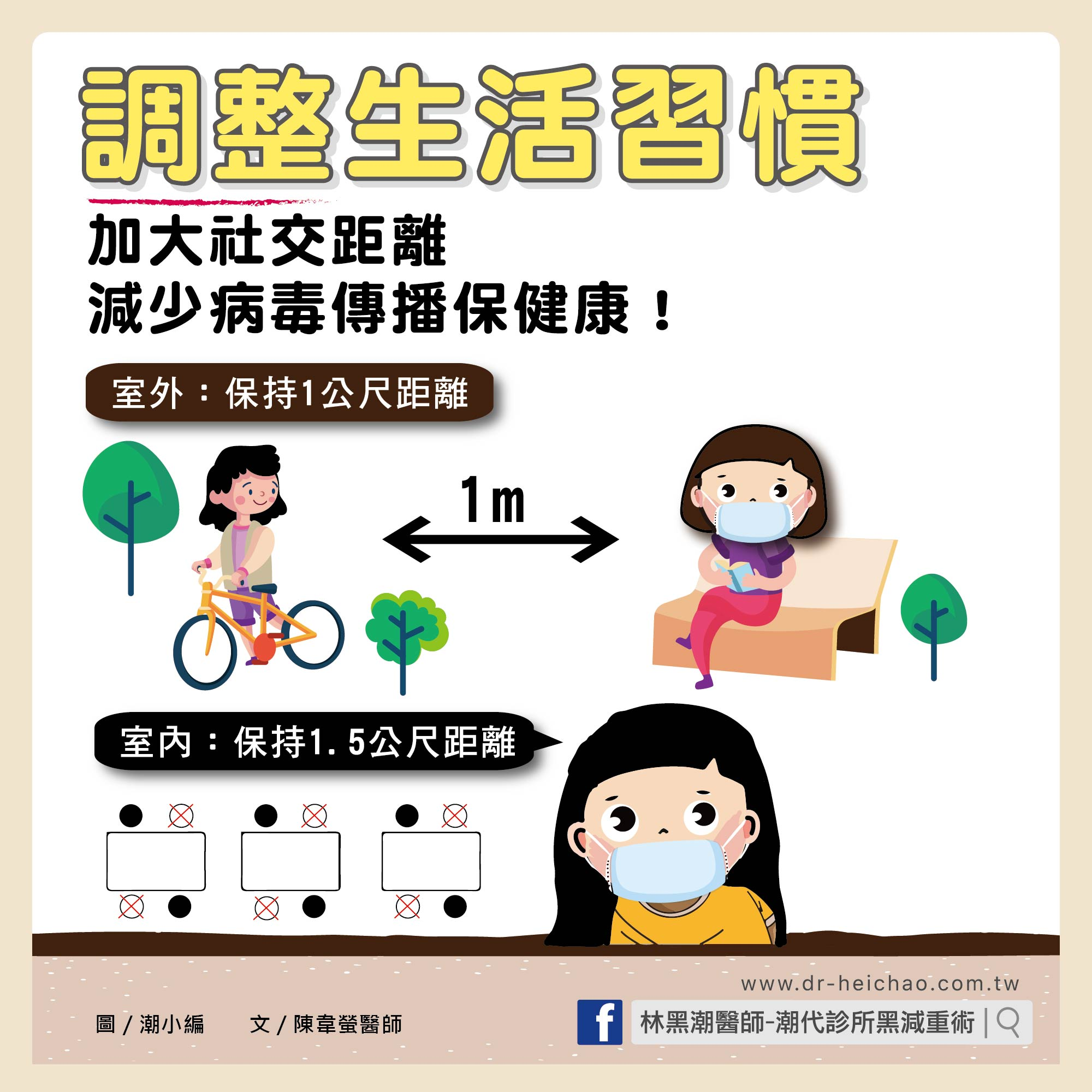 調整生活習慣 加大社交距離 減少病毒傳播保健康/文:陳韋螢醫師