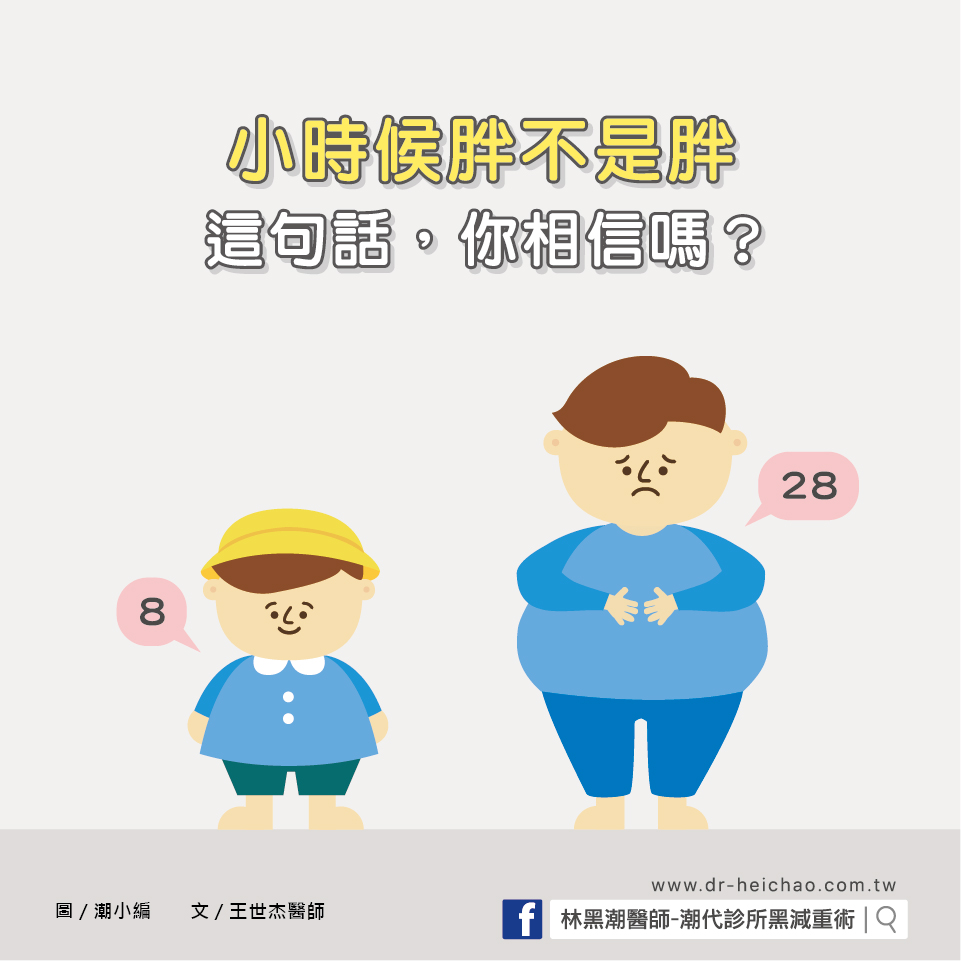 「小時候胖不是胖」這句話,你相信嗎?/文:王世杰醫師
