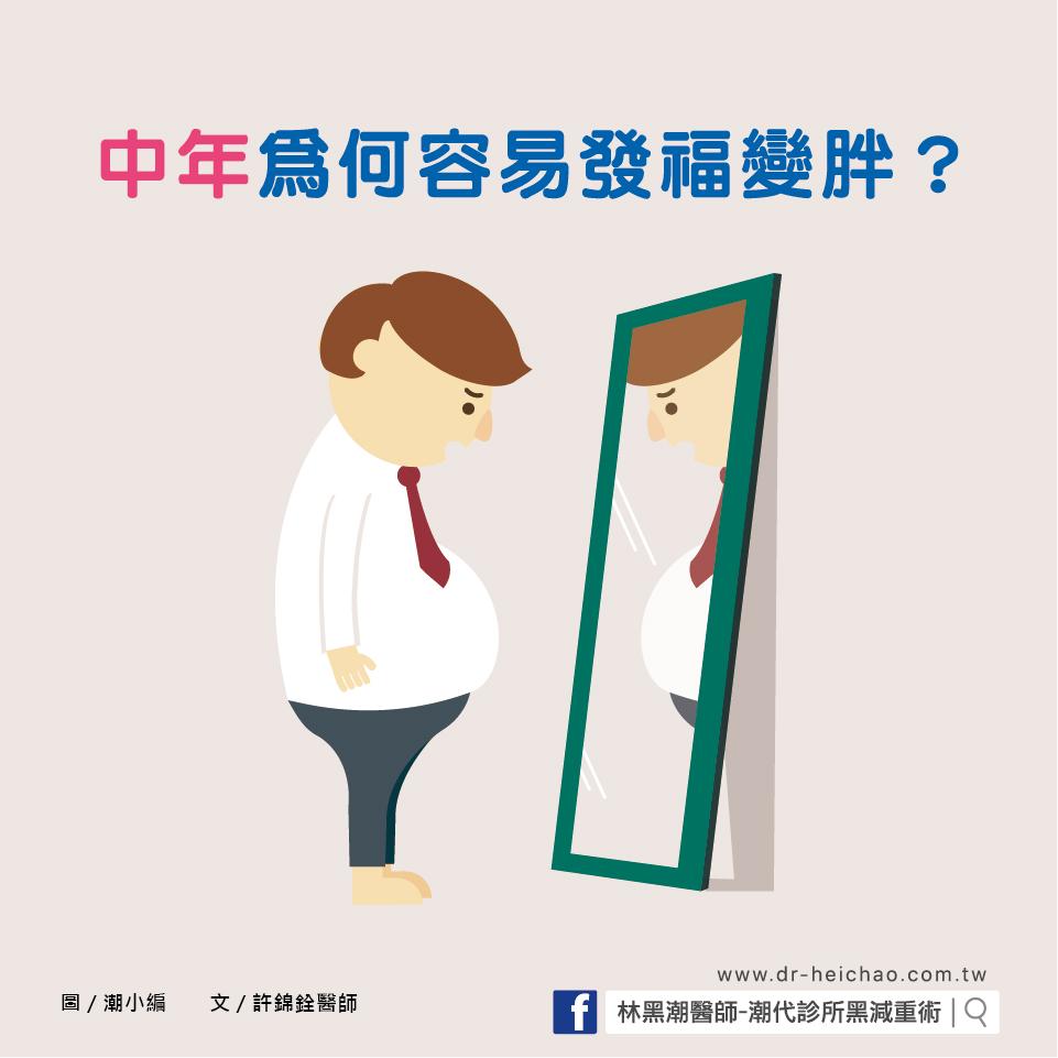 中年為何容易發福變胖/文:許錦銓醫師