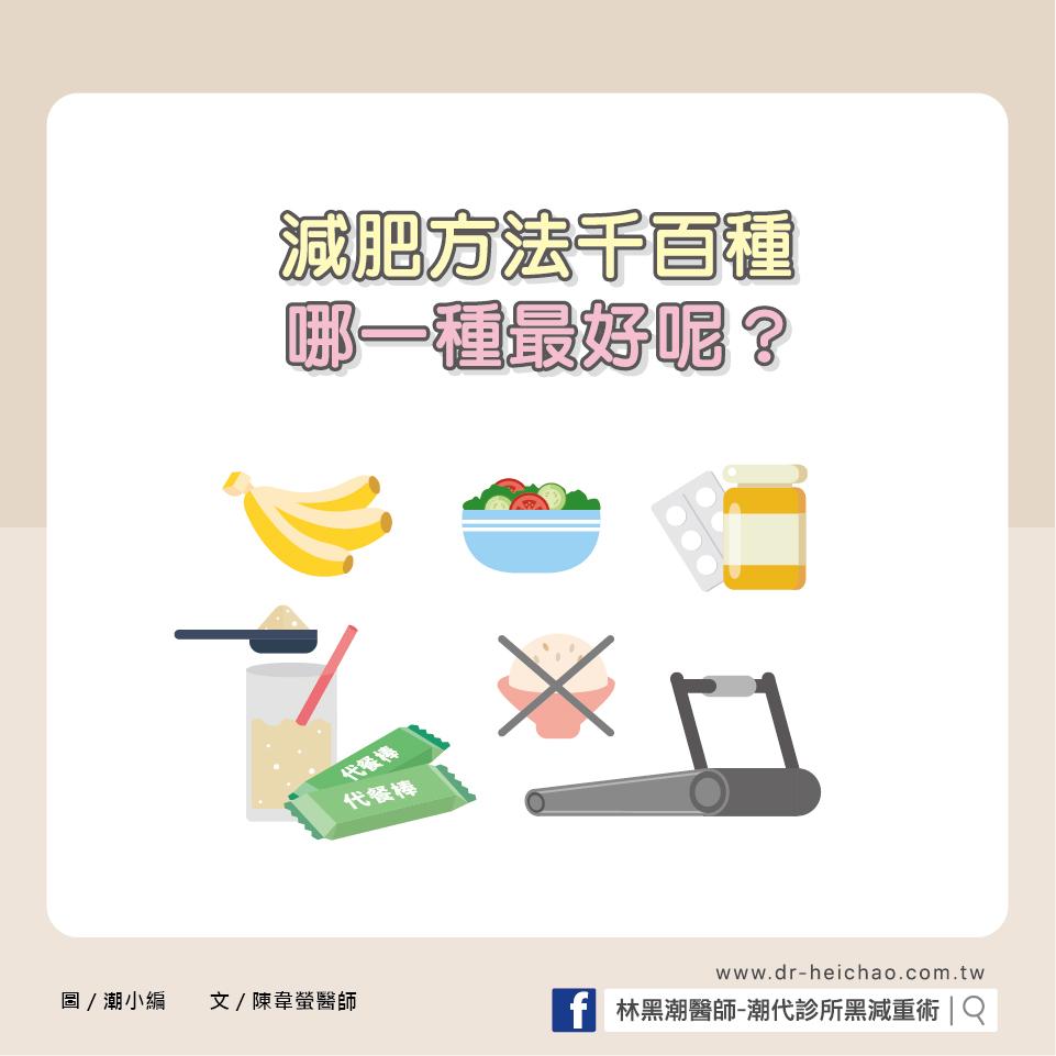 減肥方法千百種,哪一種才是最好的方法呢?/文:陳韋螢醫師