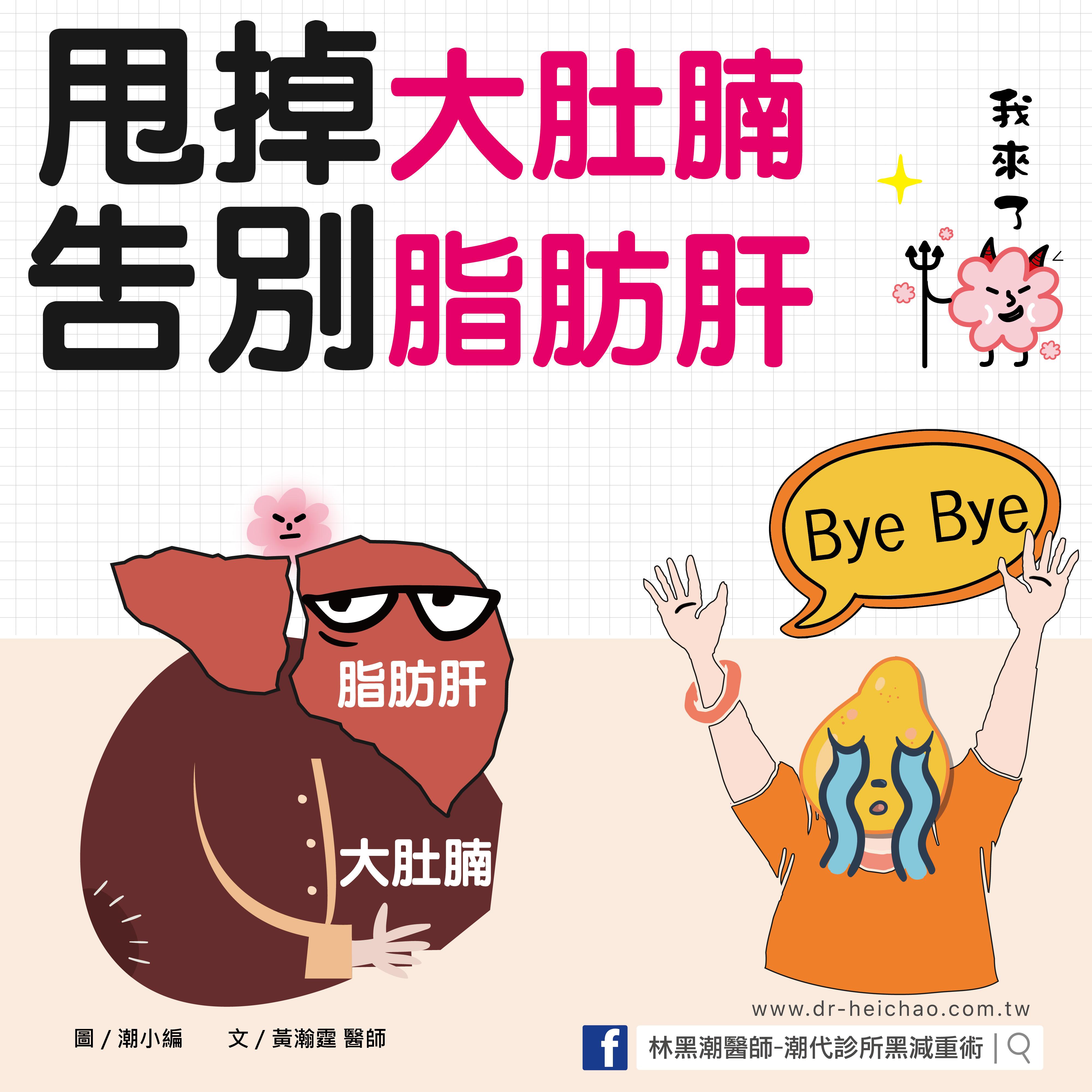甩掉大肚腩,告別脂肪肝!/文:黃瀚霆醫師